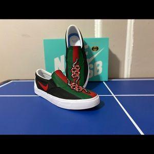 Brand new custom Nike Gucci slip on sneakers
